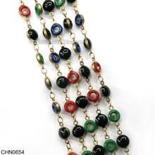 círculo de color latón ropa decorativas de la cadena