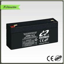 Best maintenance free rechargeable lead acid battery 6 volt 3.3Ah