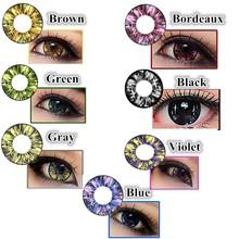Large stock 19.6mm big eyes diameter magic soft korea stars color contact lens