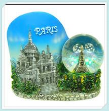 antique style old city custom mini snow globe