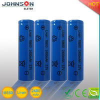 18650 li-ion rechargeable battery 3.7v 1800mAh--2400mAh lithium rechargeable