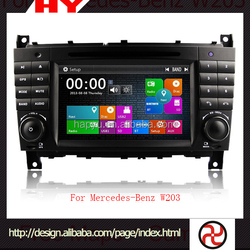 Auto navigation wholesale high quality car dvd 2 din for W203