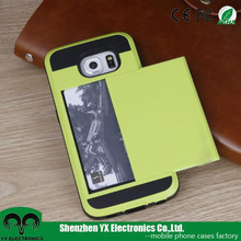 hot sale tpu pc phone case with card slots card holder
