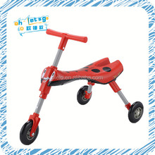 Three wheel foldable kids ride on sport toy scuttle bug with picture