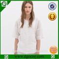 diseño de moda blusa de dama de chino de moda blusa blusa blanca