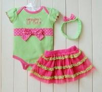 Custom Made Little Kids 3 Pieces Dress Sets Baby Girls TUTU Dress Baby Clothing