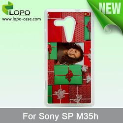 sublimation hard plastic case for Sony SP M35h