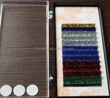 Luxurious 100% Hand Made Natural Individual Synthetic Colorful Glitter Lash Extension J //B/C/D 3D 4D 5D Customer Packaging