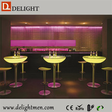 Recharge battery power illuminated bar table/ led tv table design/ led wireless control bar table