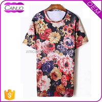 Customizable Floral Tee Apparel T-Shirt For Wholesale Clothing