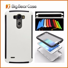 Screen protector combo mobile phone case for LG G3 case