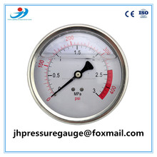 100mm 4 inch stainless steel pressure gauge 400 psi bottom