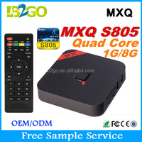 NEW+HOT!!! best selling products in ameri MXQ Amlogic S805 1G 8G 4K Quad Core 1.5GHz Andriod Smart tv box