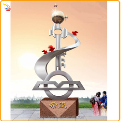 Famous Garden Statue Stainless Steel Metal Sculpture For Sale