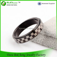 New products 2014 BC Fashion hand made black stainless steel square ring