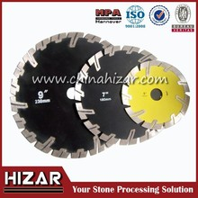 diamond blades with Protective Teeth angle grinder saw blade for stone