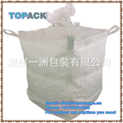 1 ton bulk bag building materials with cross loops and spouts