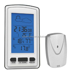 hot sale RF433 MHZ Wireless weather station with Indoor and outdoortemperature S633B