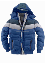 Kids' thick padded jacket hood with snap button