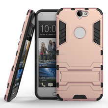 China wholesale Newest Hybrid kickstand Rose gold phone case for HTC A9