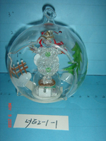 Wholesale clear hanging super bright leds glass ornaments balls for home decorations