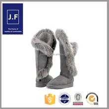2015 new design waterproof snow boots for women,cheap snow boots women white fur, fox fur snow boots factory