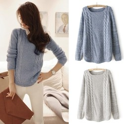 Wholesales Cute O neck Women Pullover Sweater PW-FZ-19335