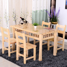 Custom Pine Wooden furniture tables and chairs,restaurant furniture set table and chair