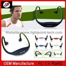 2014 old design digital sport mp3 player headset music player with TF card support and FM radio