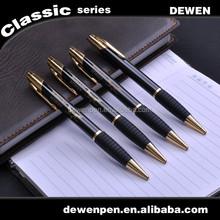 Super Brass Click Metal Gift Pen, Rubber Grip ball pen