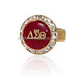 Vnistar 2015 trendy high quality Delta Sigma Theta gold plated rings from yiwu