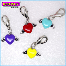 2015 custom made metal Heart shape floating locket crystal charm jewelry