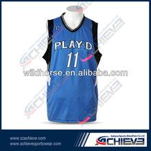 Womens blank style V neck Sleeveless 100% polyester mesh dazzel side panels cheap clothing of basketball