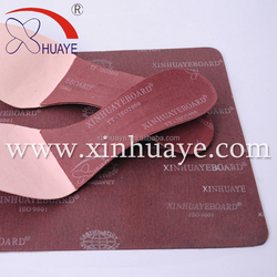 9001 Dark Red Height increasing insoles material for high arches