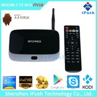 CS918 tv box cs918 Android TV Box RK3188 1.8GHz Quad Core Mali400MP4 GPU RAM 2GB ROM 8GB Bluetooth 4.0