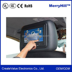 12V DC Power 7/ 8/ 9/ 10 Inch RCA Video Input Car Back Seat Monitor
