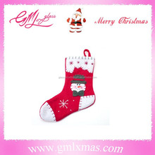 cute xmas sock ornament for Christmas, handmade christmas sock popular in the USA & Europe,Trade Assurance supplier