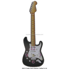 MDF Shaped Clock Guitar Black