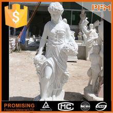 Europe lady figure marble statue of buddha