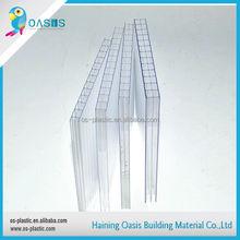 Polycarbonate feuille de couverture transparente / pc effacer toiture creux lexan feuille