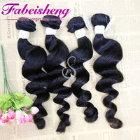 Fabeisheng wholesale 6A 14inch virgin indian human hair weft wedding decoration