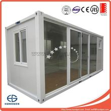 Economic bunk house container with 6M glass Wall