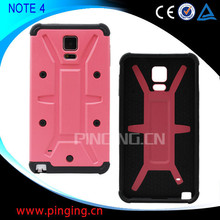 Wholesale High Quality Rugged Hybrid Phone Case for Samsung Galaxy Note 4