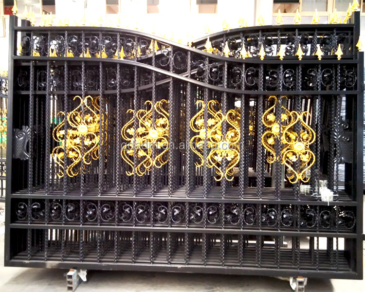 Low Price Hot Sale Iron Main Gate Designs Iron Gate Door
