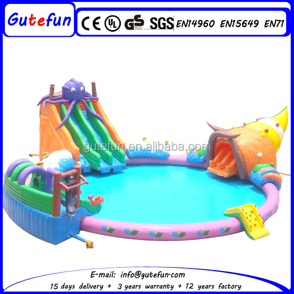 nouveau design grand toboggan gonflable avec piscine pour enfants toboggan gonflable id de. Black Bedroom Furniture Sets. Home Design Ideas