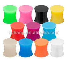 2013 New Design Double Flared Silicone Ear Plug Flesh Tunnels Body Piercing Jewelry