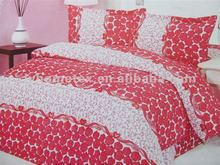 printed microfiber duvet covers, 2014 new polyester cheap bed linen, red white duvet covers