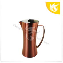 metal water pitcher /cool water pot/ cooler kettle with cooper painting