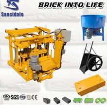 QT40-3A coal ash brick making machine cement brick making machine price brick making machine in zambia