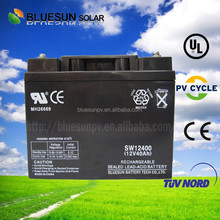 Bluesun ISO CE UL High efficiency 12V 40AH solar street light battery